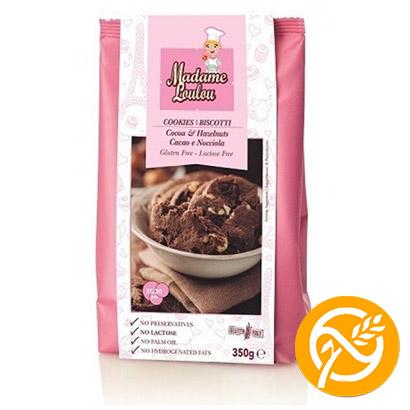 Choklad & Hasselnötskakor Glutenfri 1x350g Madame Loulou