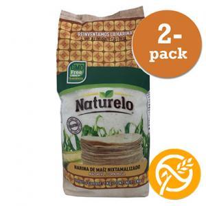 Majsmjöl Vitt Tortillas 2x1kg Naturelo