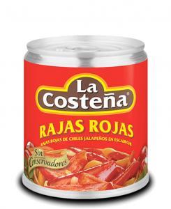 Rajas Rojas 24x220g La Costeña