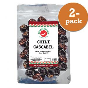Chili Cascabel Torkad 2x50g RealMexican