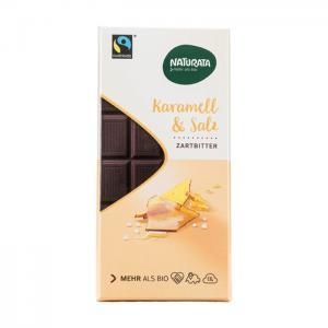 Choklad Mörk Karamell Salt Eko 12x100g Naturata