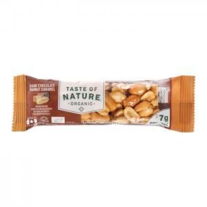 Jordnötsbar Choklad Karamell Eko 16x40g Taste Of Nature