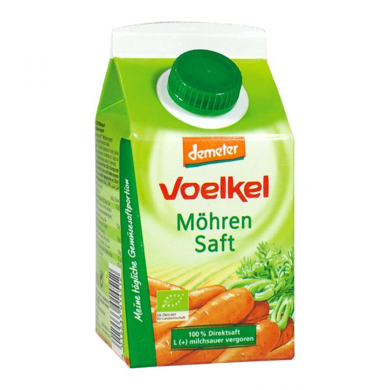 Morotsjuice Mjölksyrad Eko 6x500ml Voelkel