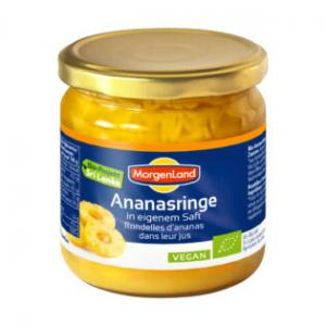 Ananasringar I Glas Eko 2x350g Morgenland