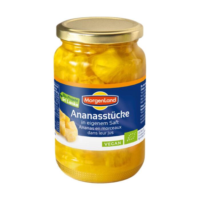 Ananasbitar I Glas Eko 6x350g Morgenland