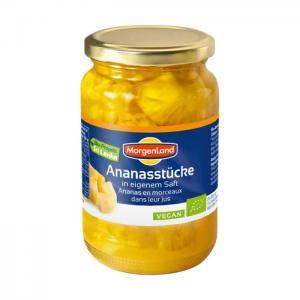 Ananasbitar I Glas Eko 2x350g Morgenland