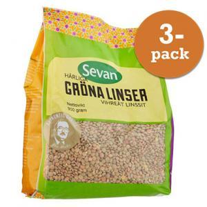 Gröna Linser 3x900g Sevan