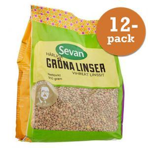 Gröna Linser 12x900g Sevan