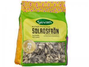 Solrosfrön rostade saltade 2x400g Sevan