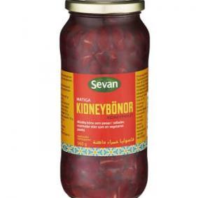 Kidneybönor I Glasburk 12x560g Sevan