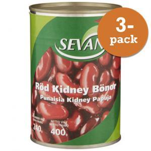 Kidneybönor Röda 3x400g Sevan