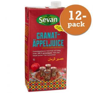 Granatäppeljuice 12x1l Sevan