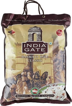 Basmatiris 10kg India Gate Classic