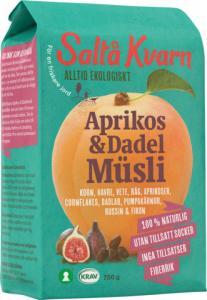 Müsli Aprikos & Dadel 10x750g Saltå Kvarn