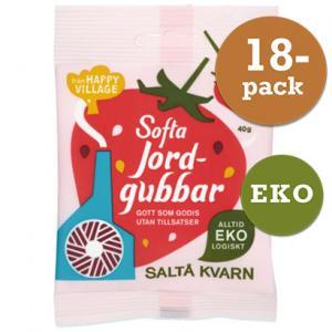 Softa Jordgubbar EKO 18x40g Saltå Kvarn