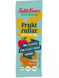 Fruktrullar Äpple/Ingefära 21x20g Saltå Kvarn