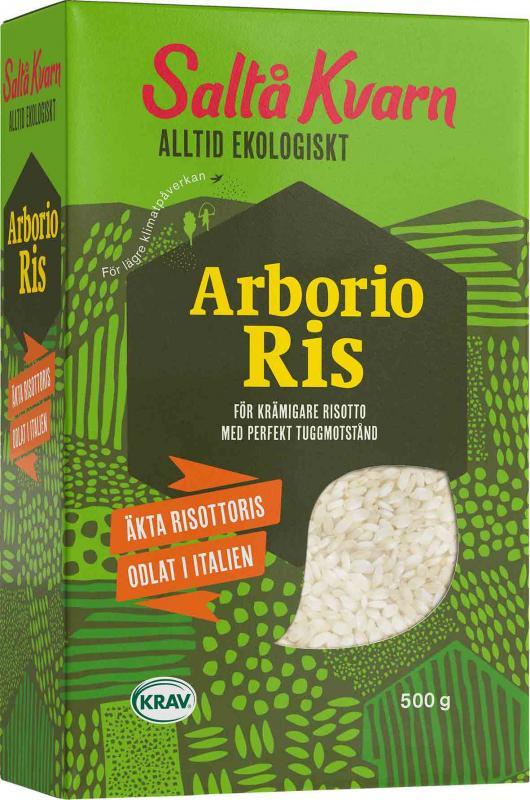 Arborioris Eko 16x500g Saltå Kvarn