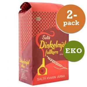 Dinkelmjöl Fullkorn 2x1.25kg Saltå Kvarn