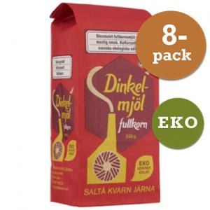 Dinkelmjöl Fullkorn EKO 8x500g Saltå Kvarn