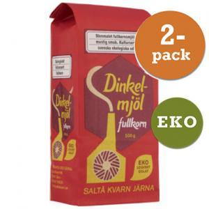 Dinkelmjöl Fullkorn EKO 2x500g Saltå Kvarn