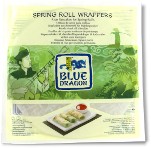 Spring Roll Wrappers Blue Dragon 1x134g KORT HÅLLBARHET