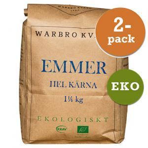 Emmer Hel Kärna Eko/Krav 2x1,25kg Warbro Kvarn