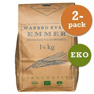 Emmer Fullkornsmjöl 2x1,25kg Eko/Krav Warbro Kvarn