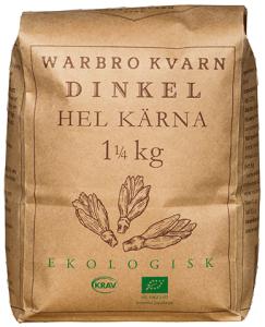 Dinkel Hel Kärna 10x1,25kg Eko/Krav Warbro Kvarn