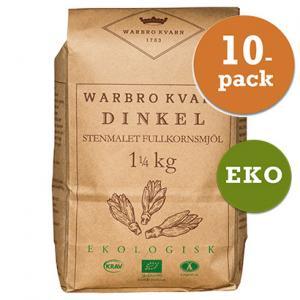 Dinkel Fullkornsmjöl 10x1,25kg Eko/Krav Warbro Kvarn