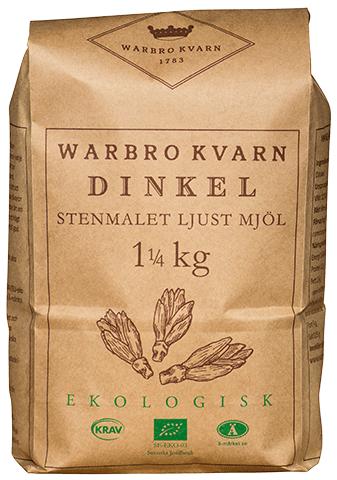 Dinkel Ljust Mjöl 2x1,25kg Eko/Krav Warbro Kvarn