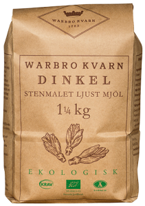 Dinkel Ljust Mjöl 10x1,25kg Eko/Krav Warbro Kvarn