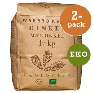 Dinkel Matdinkel 2x1,25kg Eko/Krav Warbro Kvarn