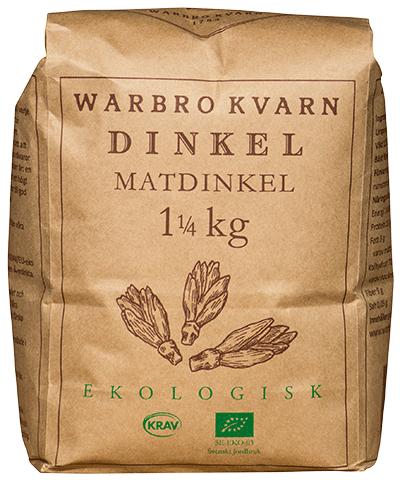 Dinkel Matdinkel 10x1,25kg Eko/Krav Warbro Kvarn
