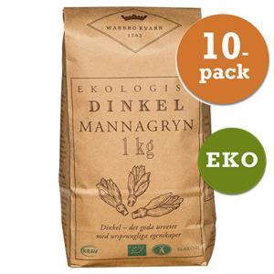 Dinkel Mannagryn 10x1kg Warbro Kvarn