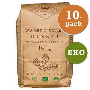 Dinkel Virvelmjöl 10x1kg Eko/Krav Warbro Kvarn