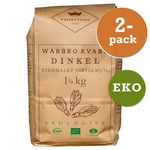 Dinkel Virvelmjöl 2x1kg Eko/Krav Warbro Kvarn
