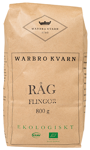 Råg Flingor 10x800g Warbro Kvarn