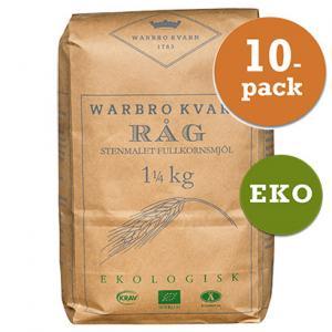 Råg Fullkornsmjöl 10x1,25kg Warbro Kvarn