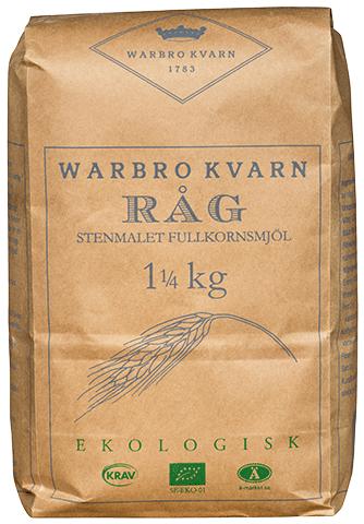 Råg Fullkornsmjöl 2x1,25kg Warbro Kvarn
