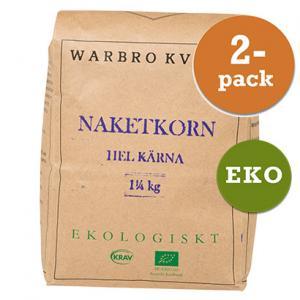 Slut. Naket Korn Hel Kärna 2x1,25kg Warbro Kvarn