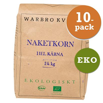 Slut. Naket Korn Hel Kärna 10x1,25kg Warbro Kvarn
