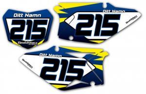 Nr-kit RMZ 450 2008-2013 Dark blue & Yellow
