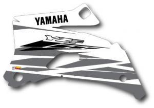 Kylvingsdekal YZF 250-450 2008-2009 White Classic