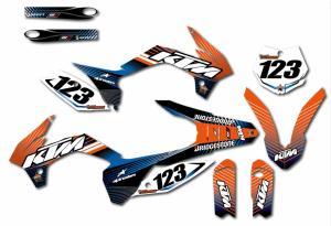 KTM komplett dekalkit anpassat till valfri modell. Blue, Orange& Black.