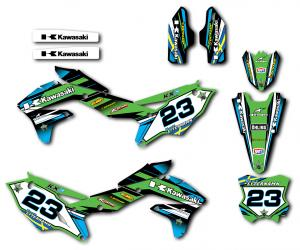 Kawasaki komplett dekalkit anpassat till valfri modell.