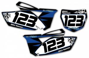 Nr-kit YZF 250 2010-2013 Black & Blue with Skull