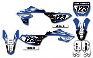 Yamaha komplett dekalkit anpassat till valfri modell. Original-liknande.
