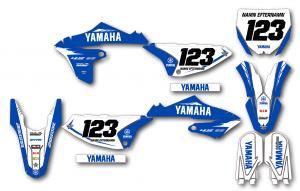 Yamaha komplett dekalkit anpassat till valfri modell. Minimalistic