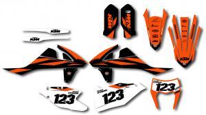 KTM komplett dekalkit anpassat till valfri modell. Dark minimalistic.