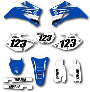 Yamaha komplett dekalkit anpassat till valfri modell. Original-liknande